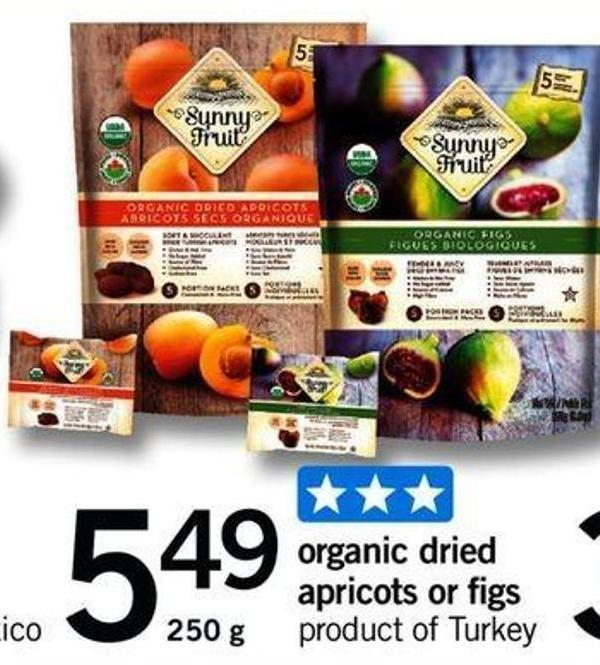 Organic Dried Apricots Or Figs