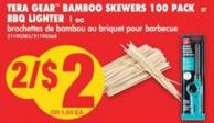 Tera Gear Bamboo Skewers - 100 Pack or Bbq Lighter - 1 Ea