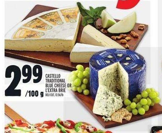 Castello Traditional Blue Cheese or L'extra Brie