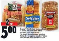 Dempster's Whole Grains Or Grainhouse Breads - 7in Tortillas Or D'italiano Bread Or Buns