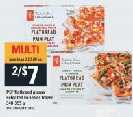 PC Flatbread Pizzas - 340-395 G