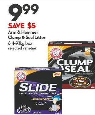 Arm & Hammer  Clump & Seal Litter 6.4-9.1kg Box