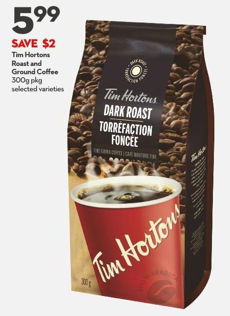 Tim Hortons Roast and  Ground Coffee 300g Pkg