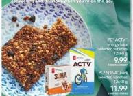 PC Actv Energy Bars - 12x68 g