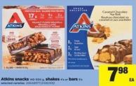 Atkins Snacks - 140-300 g - Shakes - 4's Or Bars - 5's