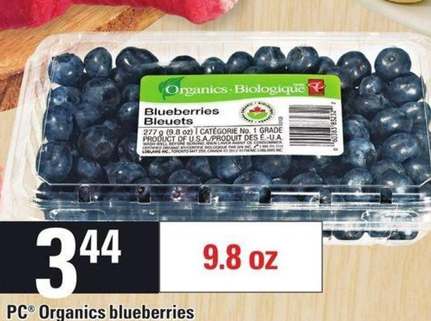 PC Organics Blueberries