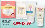 Burt's Bees Personal Care