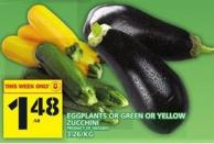 Eggplants Or Green Or Yellow Zucchini