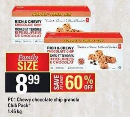 PC Chewy Chocolate Chip Granola - Club Pack