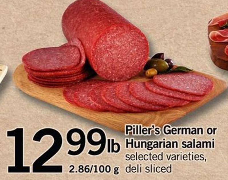 Piller's German Or Hungarian Salami - 2.86/100 G