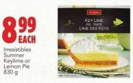 Irresistibles Summer Keylime Or Lemon Pie 830 g