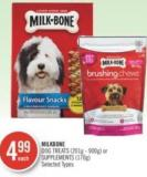 Milkbone Dog Treats (201g - 900g) or Supplements (170g)