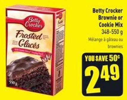 Betty Crocker Brownie or Cookie Mix 348-550 g
