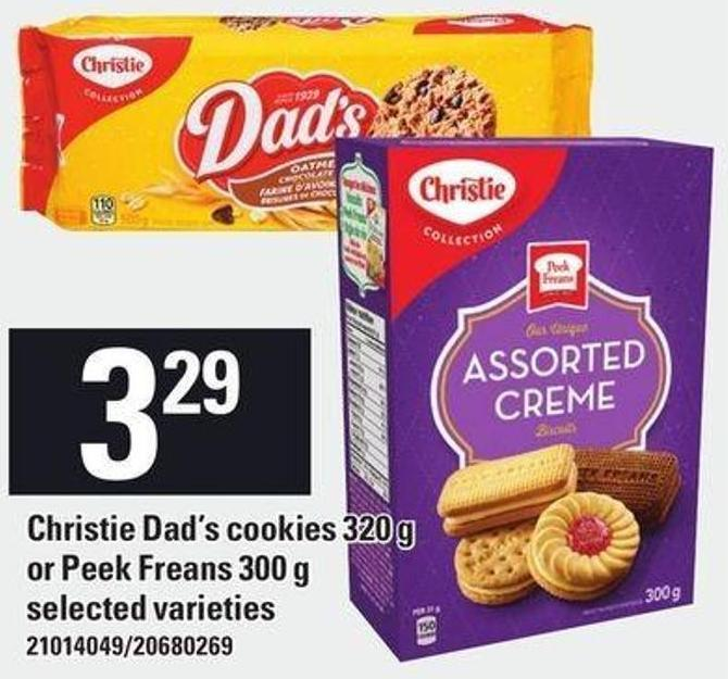 Christie Dad's Cookies 320 G Or Peek Freans 300 G