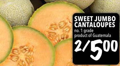 Sweet Jumbo Cantaloupes