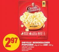 Orville Redenbacher Popcorn - Pkg of 6 or Jar - 850 g