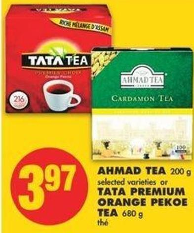 Ahmad Tea - 200 G Or Tata Premium Orange Pekoe Tea - 680 G