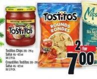 Tostitos Chips 205 - 295 g Salsa 416 - 423 ml Or 3.79 Ea