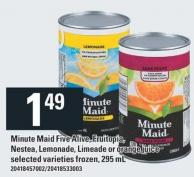 Minute Maid Five Alive - Fruitopia - Nestea - Lemonade - Limeade Or Orange Juice - 295 Ml