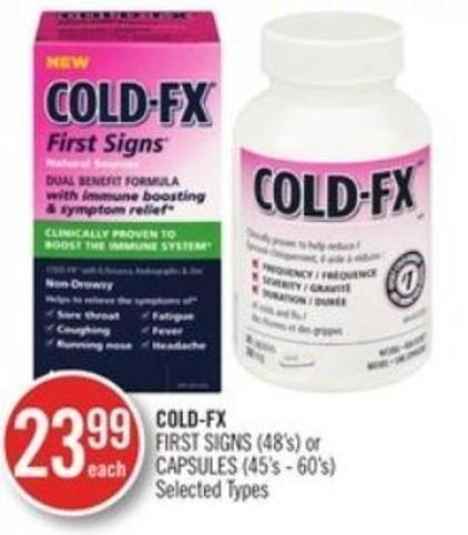 Cold-fx First Signs (48's) or Capsules (45's - 60's)