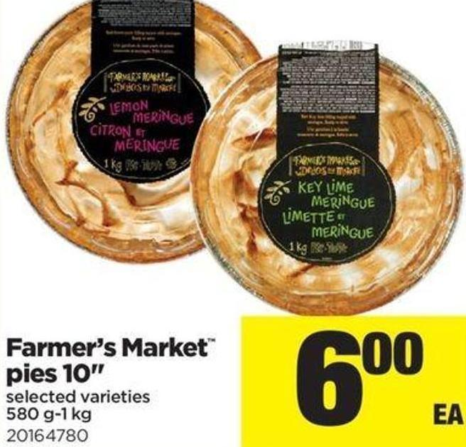 Farmer's Market Pies 10in