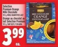 Selection Premium Orange Milk Chocolate 157 g