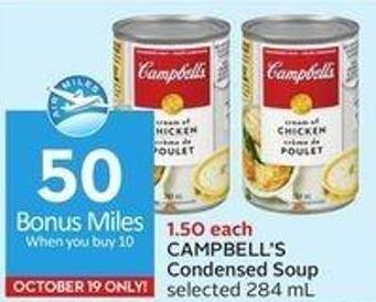 Campbell's Condensed Soup Selected 284 mL - 50 Air Miles Bonus Miles