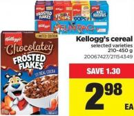 Kellogg's Cereal - 210-450 g