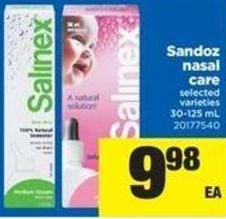 Sandoz Nasal Care - 30-125 mL