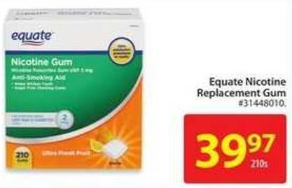 Equate Nicotine Replacement Gum