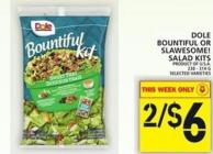 Dole Bountiful Or Slawesome! Salad Kits