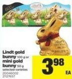 Lindt Gold Bunny - 100 G Or Mini Gold Bunny - 50 G