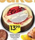 Sensations By Compliments Cheesecakes Frozen 907 G-1.134 Kg