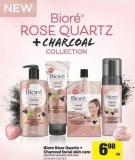 Biore Rose Quartz + Charcoal Facial Skin Care
