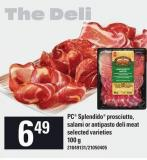 PC Splendido Prosciutto - Salami Or Antipasto Deli Meat - 100 g