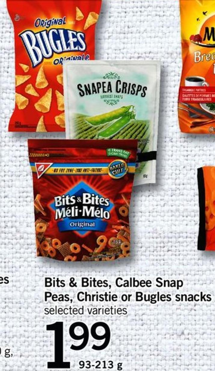 Bits & Bites - Calbee Snap Peas - Christie Or Bugles Snacks - 93-213 G