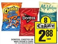 Doritos - Cheetos Or Miss Vickie's Chips