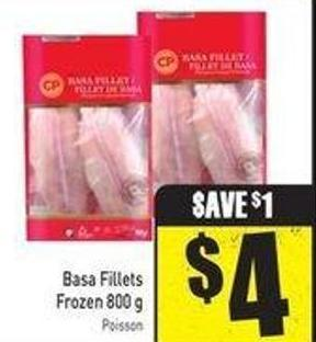 Basa Fillets Frozen 800 g