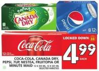Coca-cola - Canada Dry - Pepsi - 7up - Nestea - Fruitopia Or Minute Maid