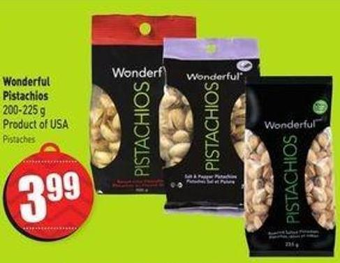 Wonderful Pistachios 200-225 g