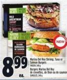 Marina Del Rey Shrimp - Tuna Or Salmon Burgers
