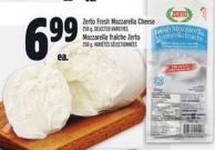 Zerto Fresh Mozzarella Cheese 250 g