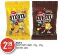 M&m's Chocolate Candy 109g - 120g