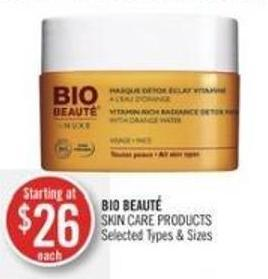 Bio Beauté Skin Care Products