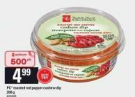 PC Roasted Red Pepper Cashew Dip - 200 G