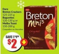 Dare Breton Crackers 125-225 g Baguettes 120-130 g or Melba Toast 150-200 g