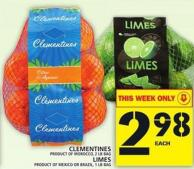Clementines Or Limes