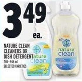 Nature Clean Cleaners Or Dish Detergent