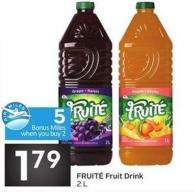 Fruit' Fruit Drink 2 L- 5 Air Miles Bonus Miles