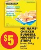 No Name Chicken Burgers - Nuggets or Strips - 908 g